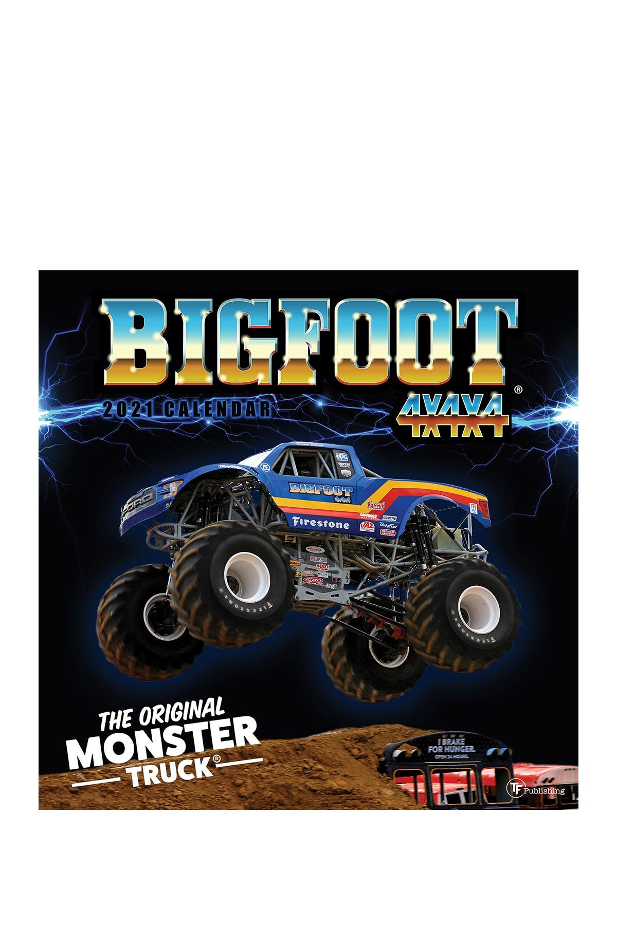 Image of TF Publishing 2021 Big Foot-The Original Monster Truck Wall Calendar