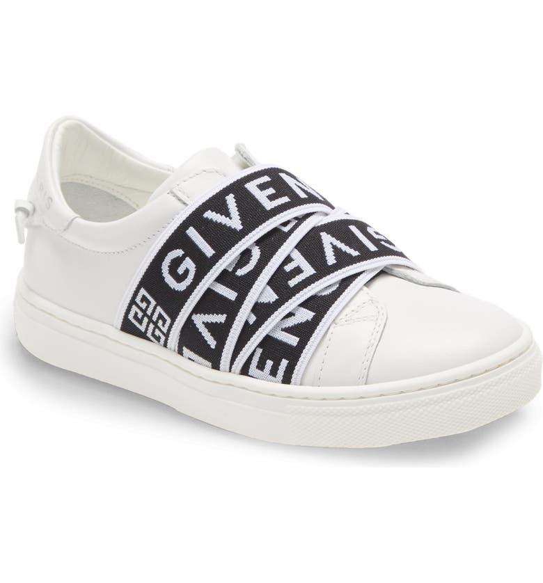 GIVENCHY Logo Band Sneaker, Main, color, WHITE
