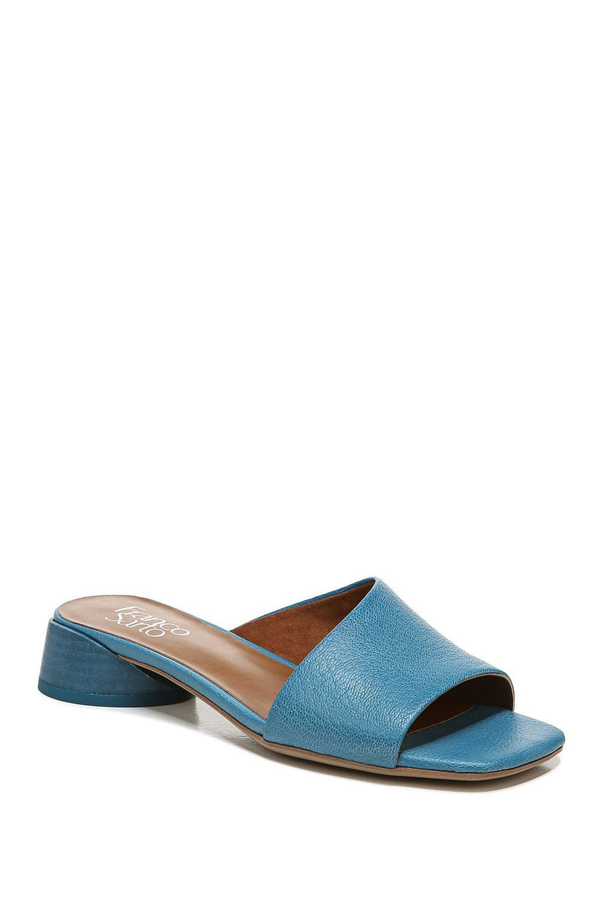 Image of Franco Sarto Leslie Leather Block Heel Sandal