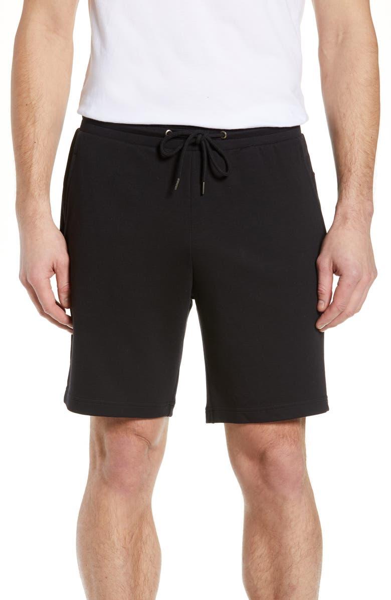 NORDSTROM MEN'S SHOP Lounge Shorts, Main, color, BLACK