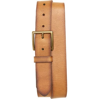 Frye Campus Leather Belt, Tan