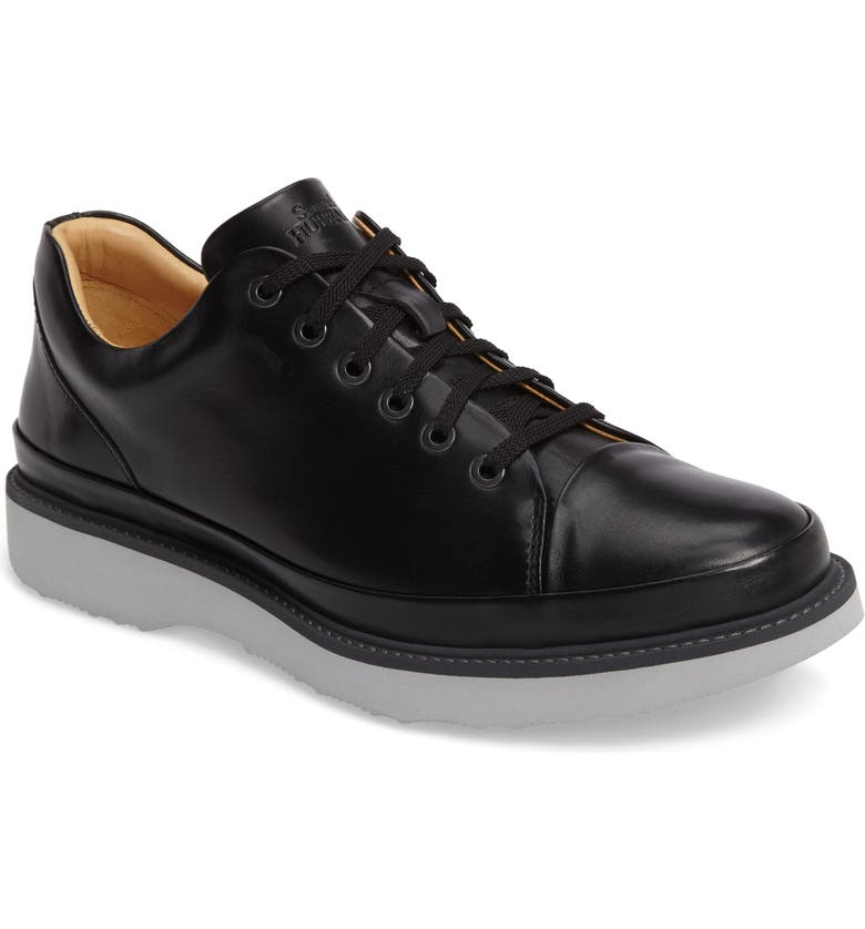 SAMUEL HUBBARD Sneaker, Main, color, BLACK LEATHER