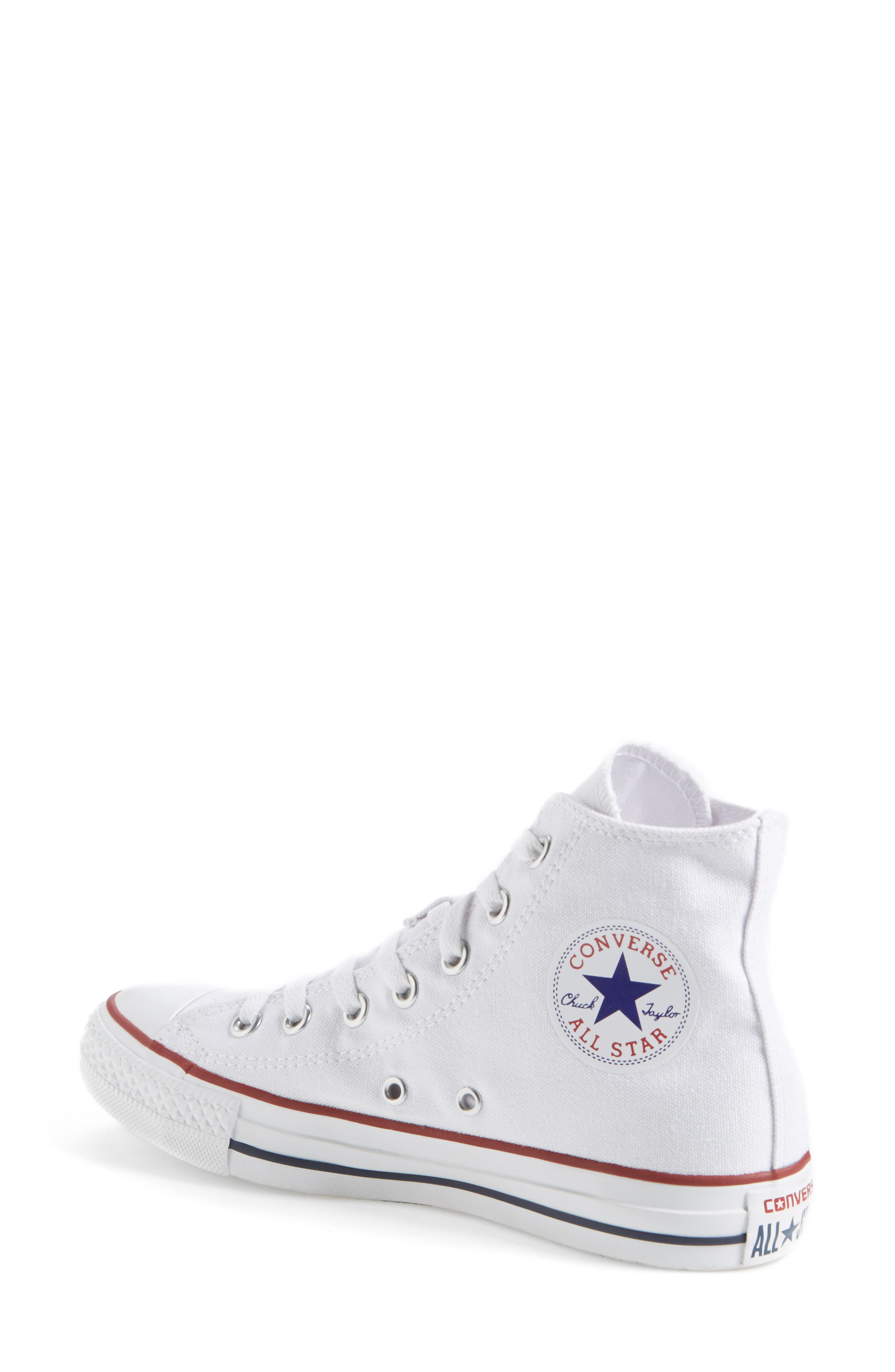 ,                             Chuck Taylor<sup>®</sup> High Top Sneaker,                             Alternate thumbnail 2, color,                             OPTIC WHITE