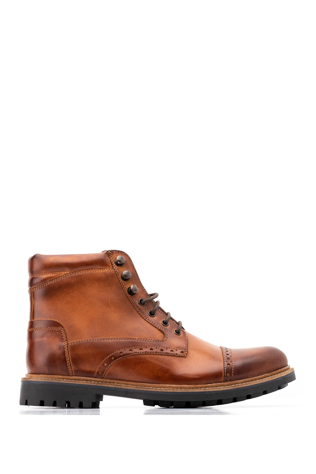 Image of Base London Quail Leather Brogue Boot