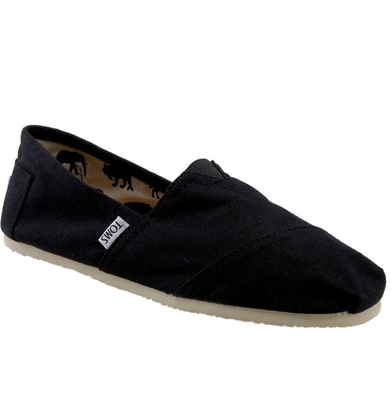 TOMS Classic Canvas Slip-On, Main, color, 001