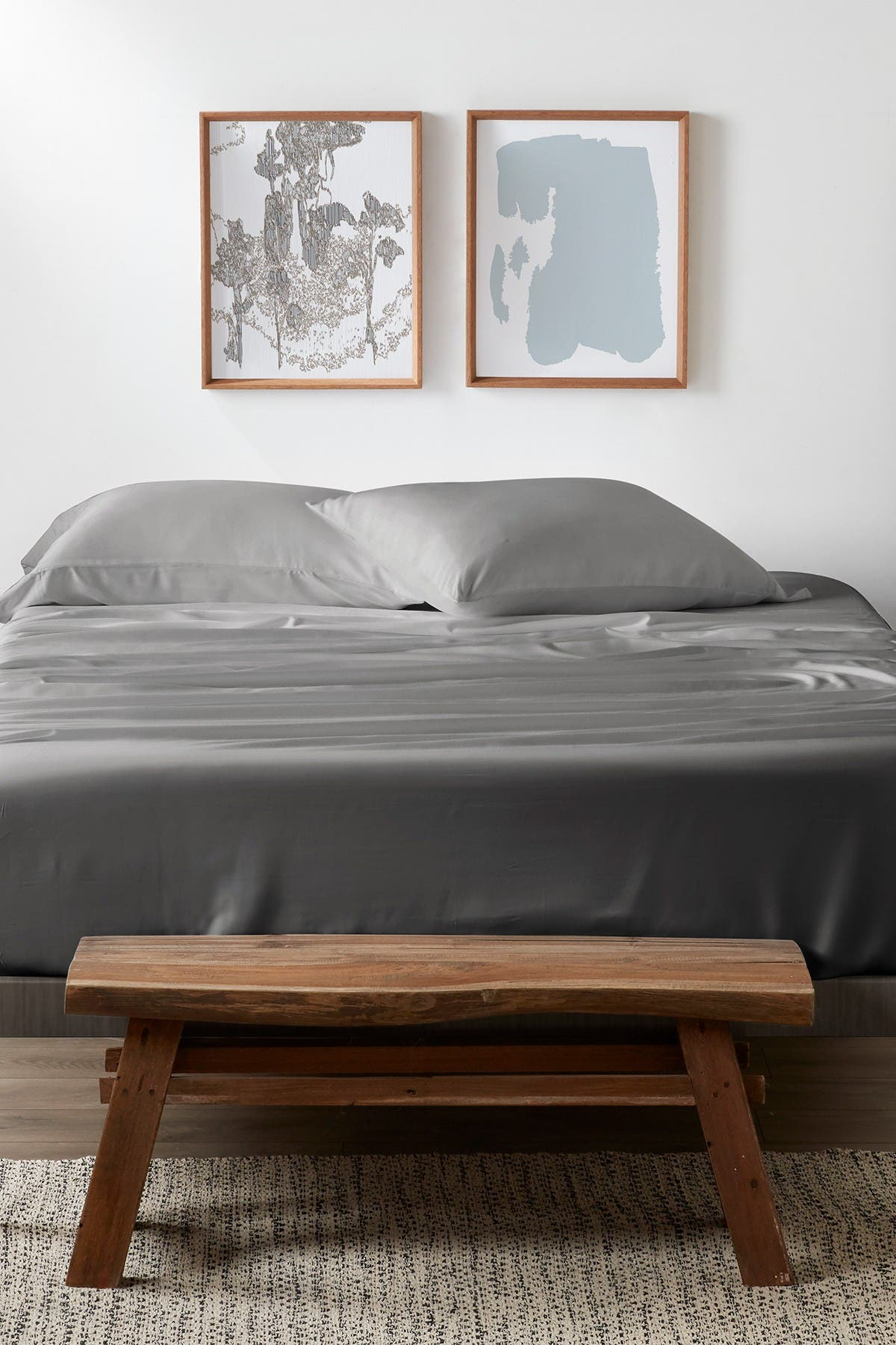 Image of IENJOY HOME Home Collection Premium 4-Piece Luxury King Bed Sheet Set - Gray