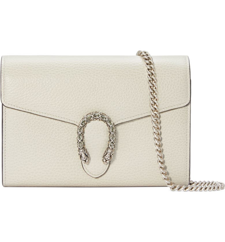 GUCCI Small Dionysus Leather Clutch, Main, color, 170