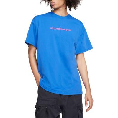 Nike Acg Logo T-Shirt, Blue