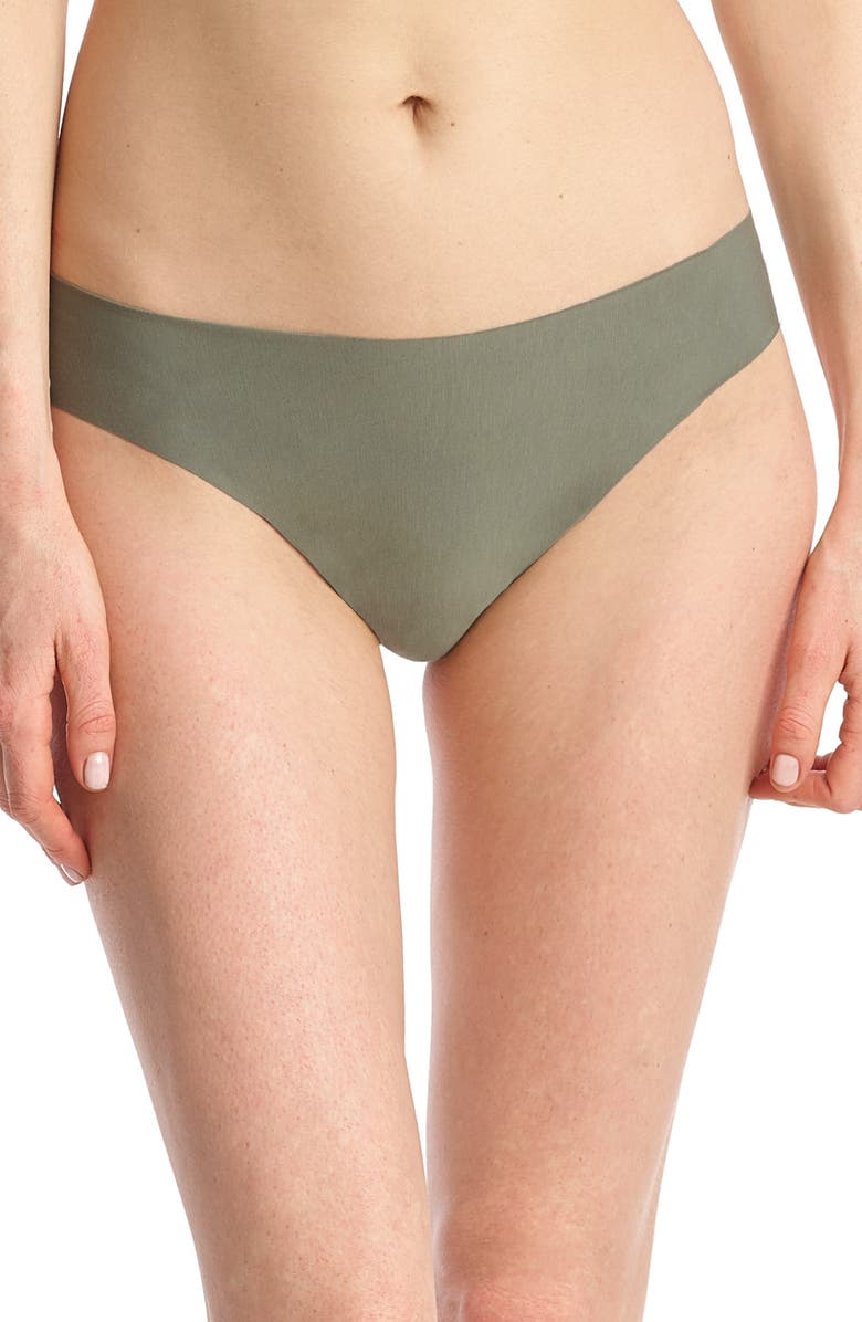 COMMANDO 'Butter' Stretch Modal Thong, Main, color, OLIVE LEAF