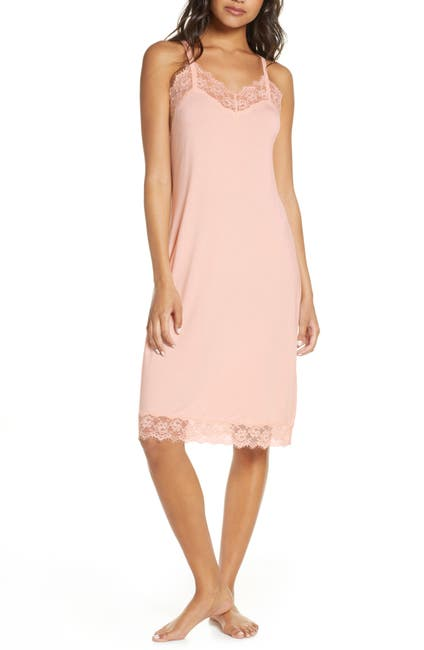Image of Nordstrom Lace Trim Knit Chemise