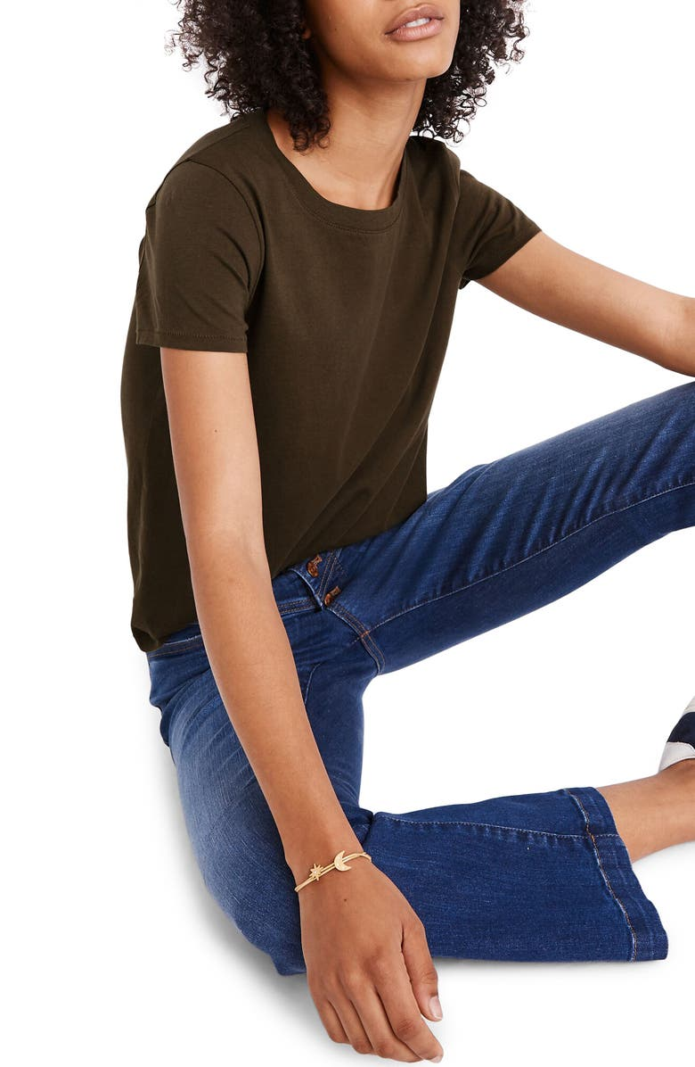MADEWELL Northside Vintage Tee, Main, color, DRIED OLIVE