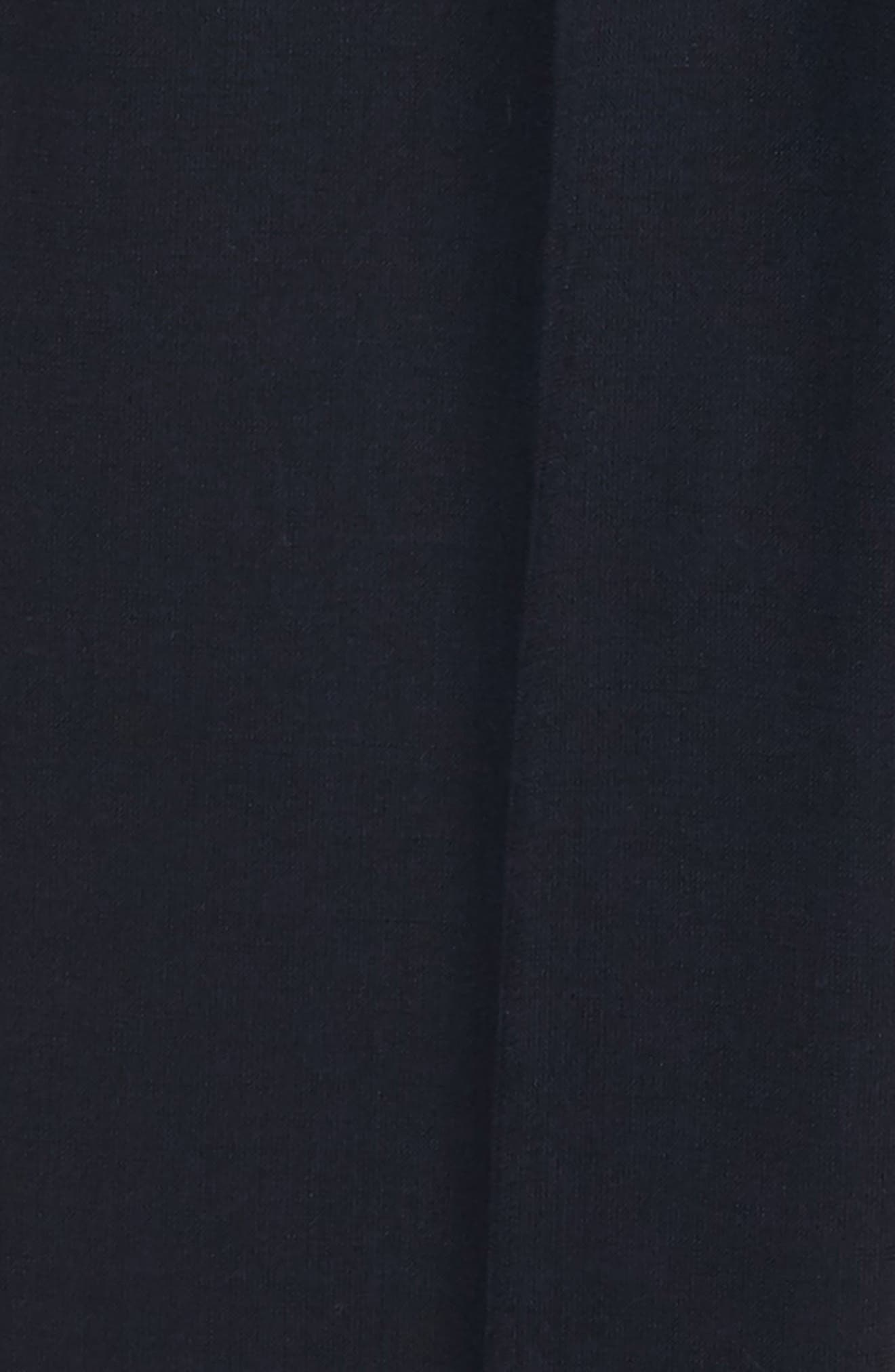 ,                             Solid Wool Blend Flat Front Trousers,                             Alternate thumbnail 2, color,                             NAVY