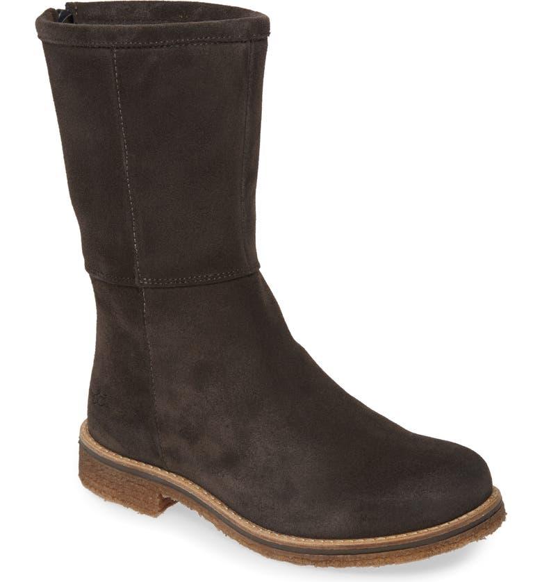 BOS. & CO. Bell Waterproof Winter Boot, Main, color, DARK GREY SUEDE