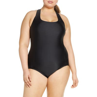 Plus Size Nike Essential Crossback One-Piece Swimsuit, Black