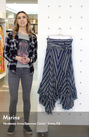 Giselle Chevron Asymmetrical Skirt, sales video thumbnail