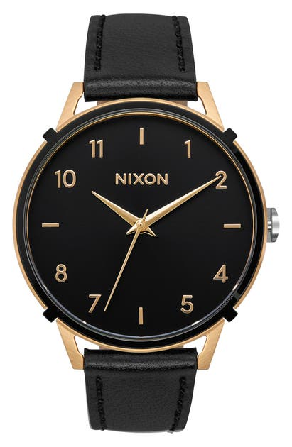Nixon Watches THE ARROW LEATHER STRAP WATCH, 38MM