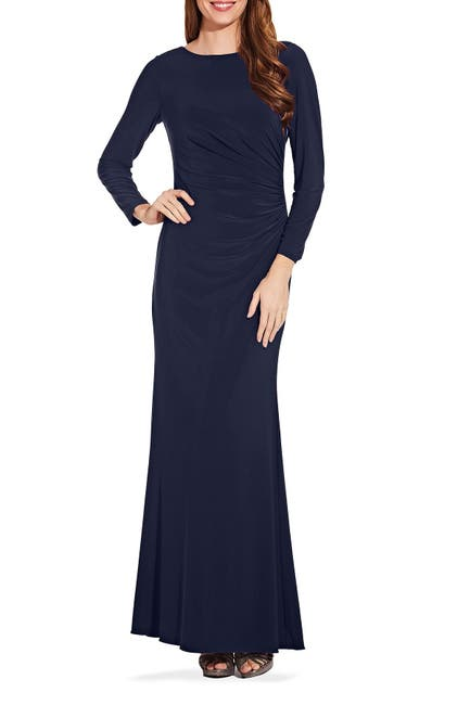 Image of Adrianna Papell Draped Jersey Gown