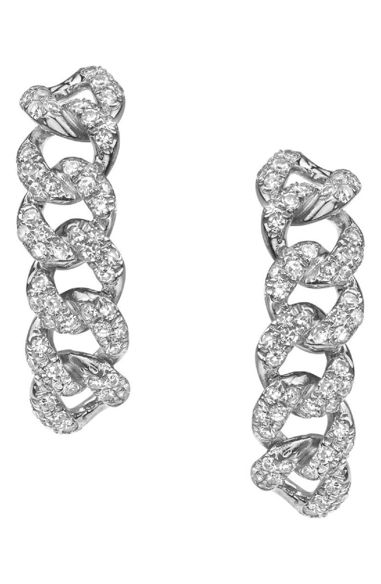 SHAY Essential Six Link Diamond Earrings, Main, color, WHITE GOLD/DIAMOND