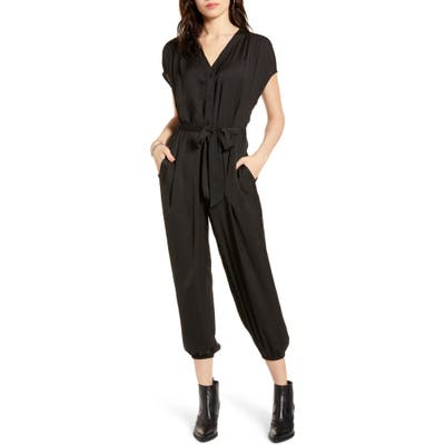 All In Favor V-Neck Jumpsuit, Black