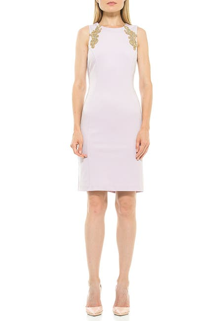 Image of Alexia Admor Chloe Embellished Sleeveless Sheath Dress