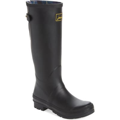 Joules Field Welly Waterproof Rain Boot, Black