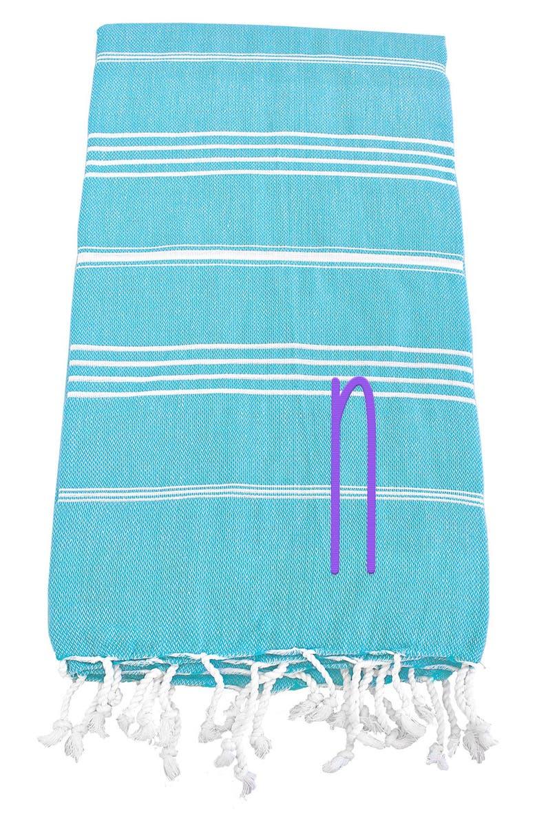 CATHY'S CONCEPTS Monogram Turkish Cotton Towel, Main, color, 454