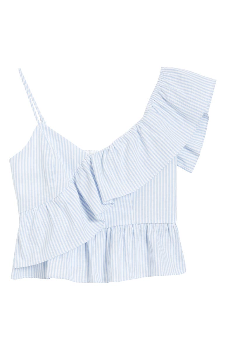 ENGLISH FACTORY Ruffle Babydoll Camisole, Main, color, BLUE