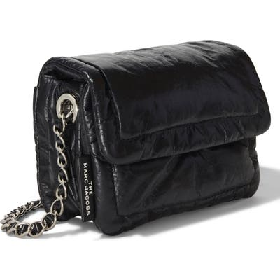 The Marc Jacobs The Mini Pillow Leather Shoulder Bag - Black