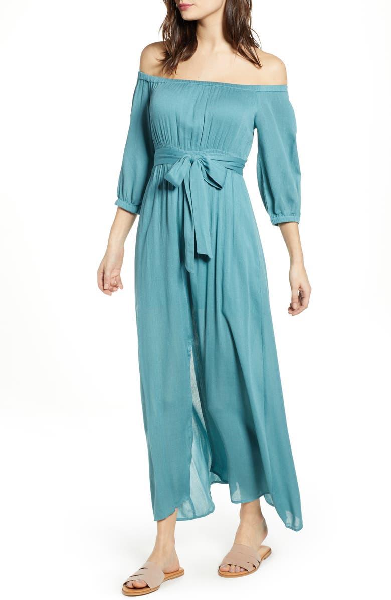 LIRA CLOTHING Kylie Off the Shoulder Midi Dress, Main, color, 400