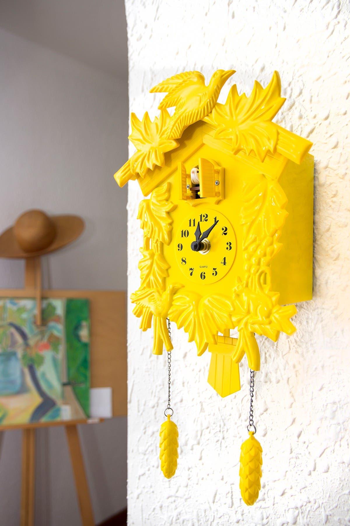 Image of WalPlus Yellow Cuckoo Clock in Yellow
