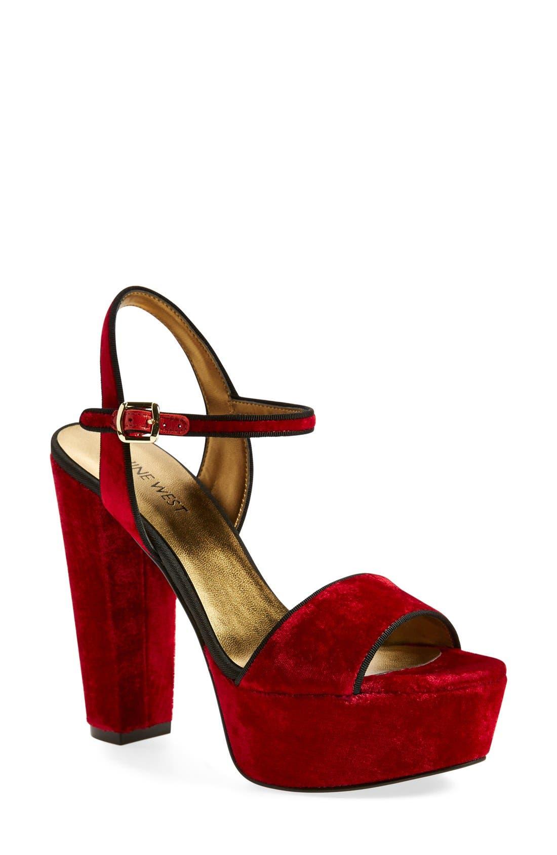 ,                             'Carnation' Platform Sandal,                             Main thumbnail 22, color,                             600