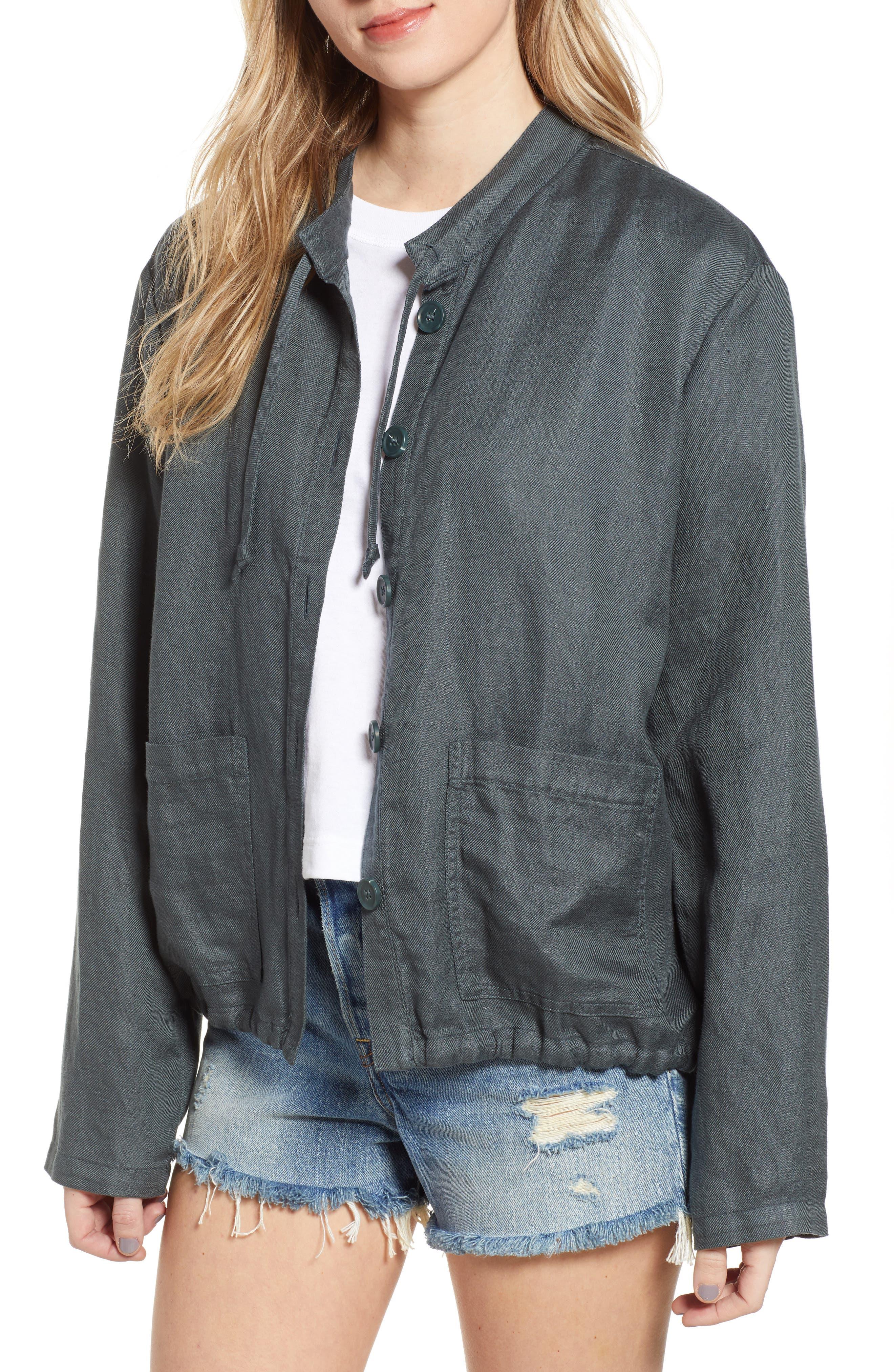 Oversize Military Jacket, Main, color, GREY URBAN