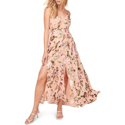 Astr The Label Floral Print Sleeveless Maxi Dress, Pink