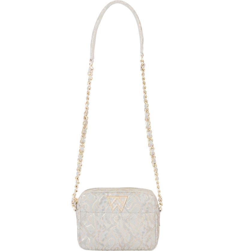KELLY WYNNE Mingle Mingle Mini Embossed Leather Crossbody Bag, Main, color, BREAD WYNNER