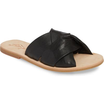 Free People Rio Vista Slide Sandal, Black