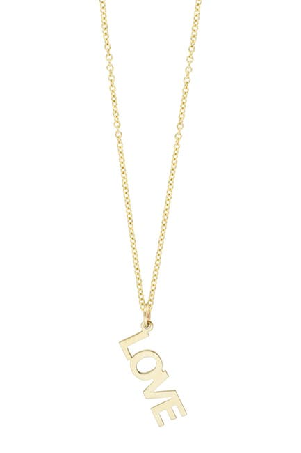 Image of Bony Levy 14K Yellow Gold Love Drop Pendant Necklace