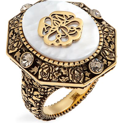 Alexander Mcqueen Signature Jeweled Ring