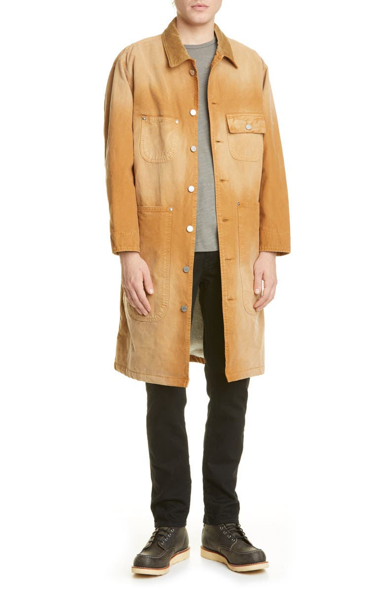 BILLY LOS ANGELES Canvas Workwear Trench Coat, Main, color, 200