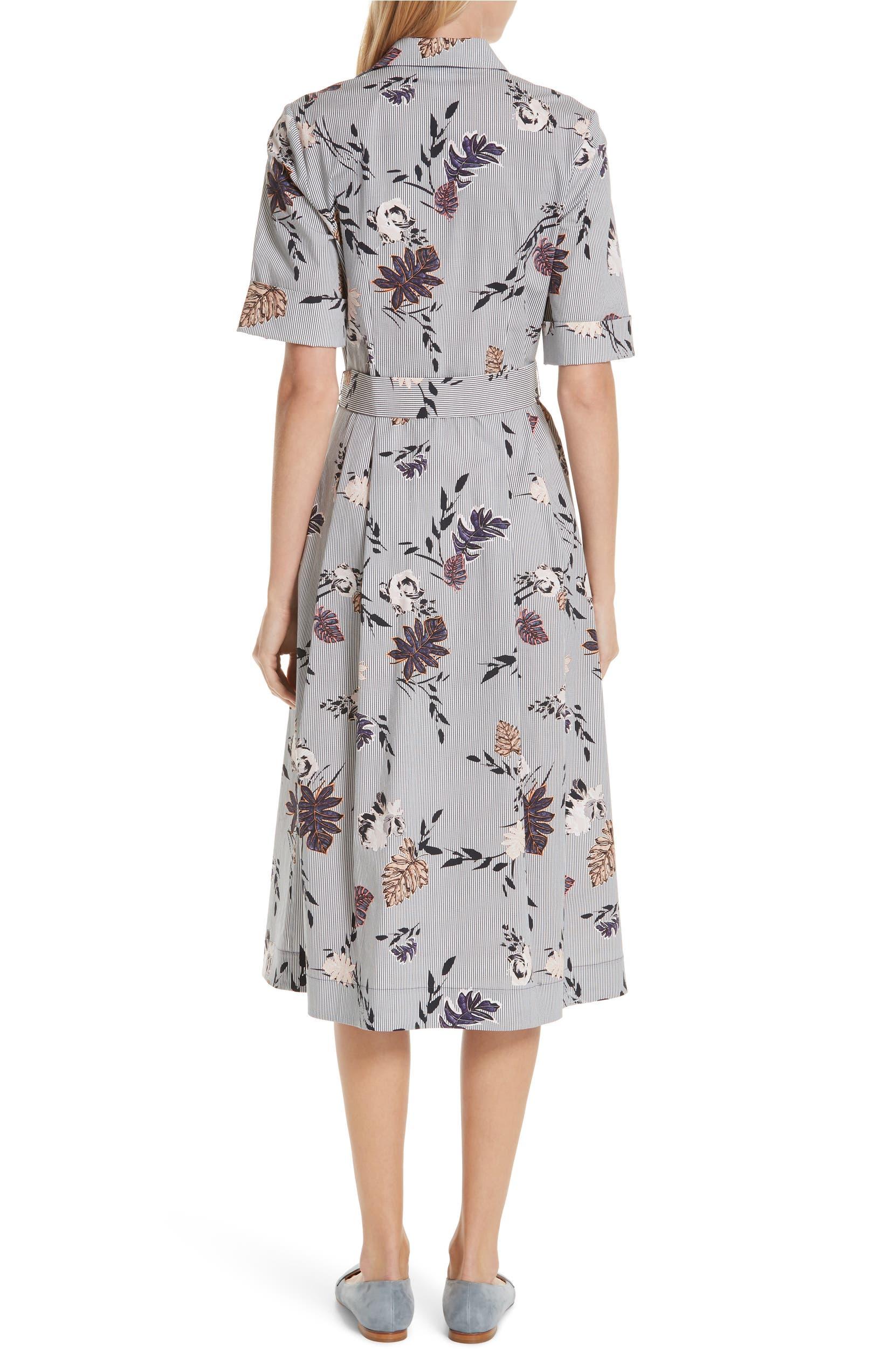6a19e1212875 Lafayette 148 New York Eleni Floral Stripe Shirtdress | Nordstrom