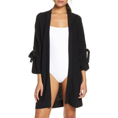 Tommy Bahama Tie Sleeve Cover-Up Cardigan, Black