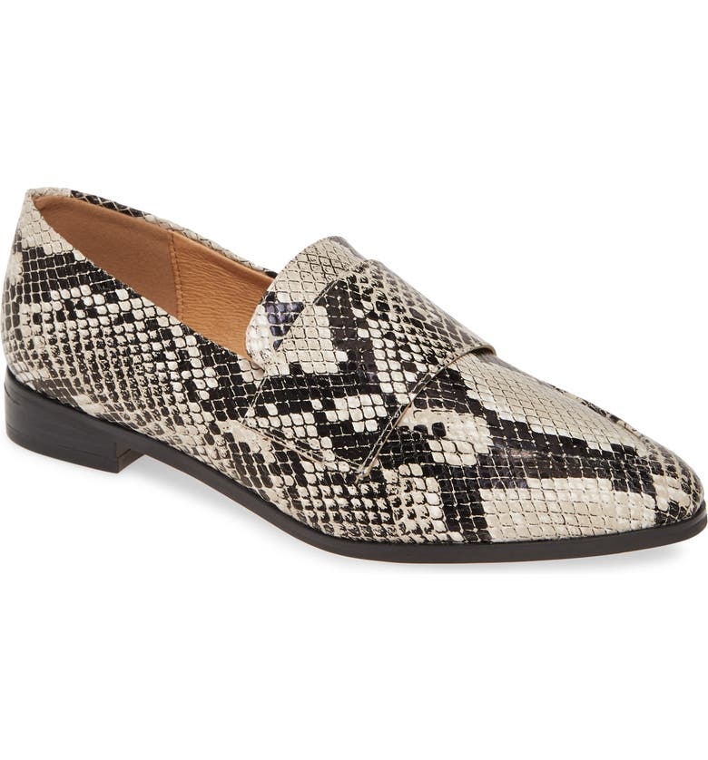 HALOGEN<SUP>®</SUP> Emilia Loafer, Main, color, BLACK/NUDE PRINTED LEATHER