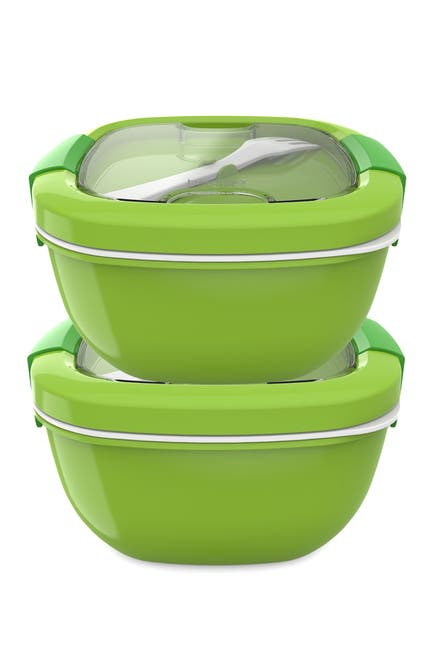 Image of BENTGO 2-Pack of Salad BPA-Free Lunch Container - Green