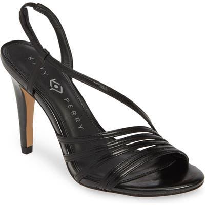 Katy Perry Bryson Asymmetrical Strappy Sandal- Black