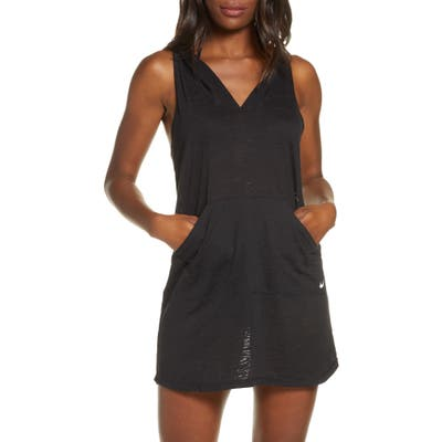 Nike Essential Hooded Cover-Up Dress, Black