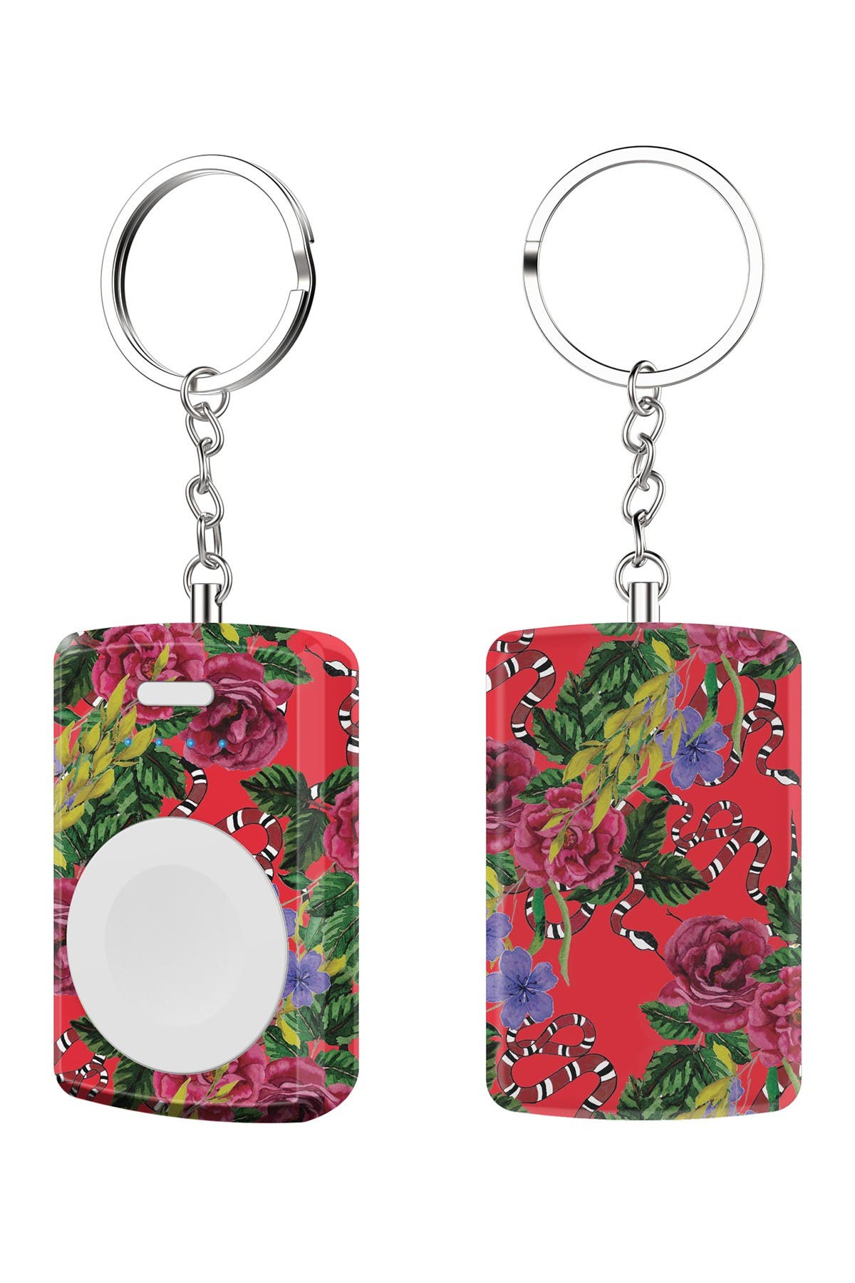 Image of Tech Elements Red Floral Apple Watch Portable Backup Battery & Charger