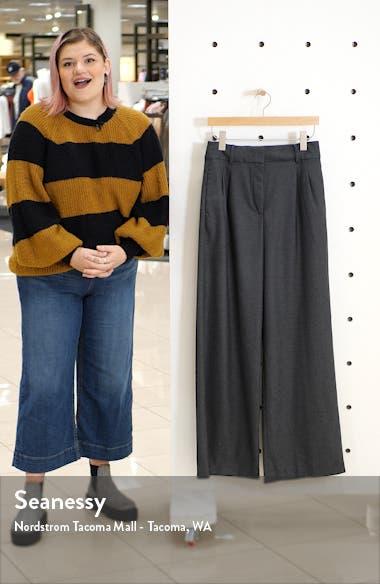 Flannel Wide Leg Trousers, sales video thumbnail