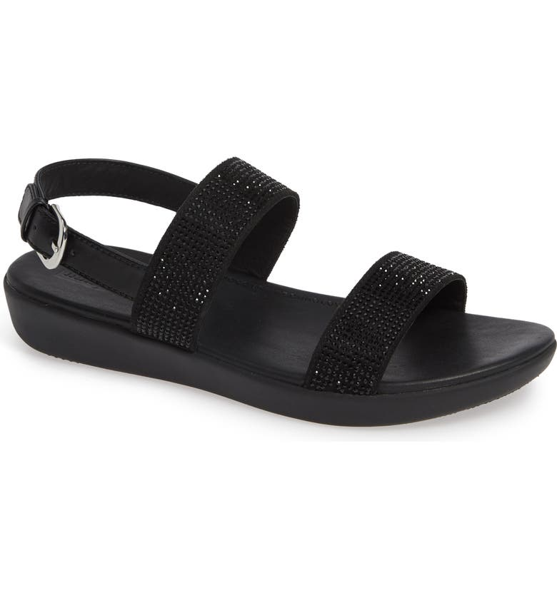 FITFLOP Barra Crystalled Sandal, Main, color, 001