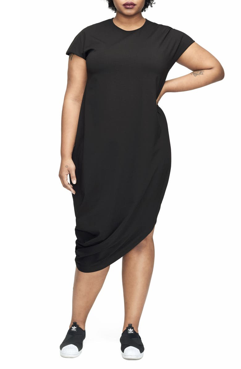 UNIVERSAL STANDARD Geneva Dress, Main, color, BLACK
