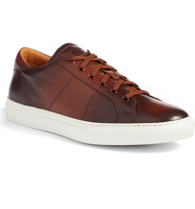 TO BOOT NEW YORK Colton Sneaker, Main, color, BROWN LEATHER