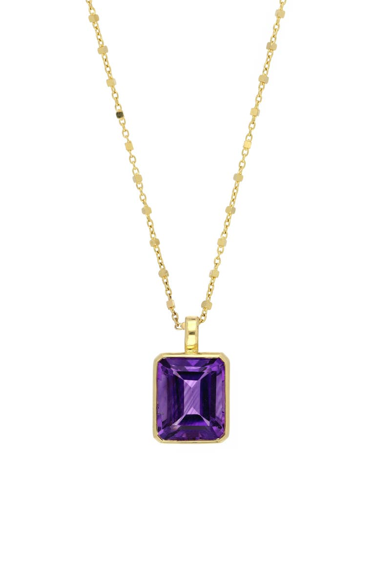 BONY LEVY Amethyst Pendant Necklace, Main, color, YELLOW GOLD/ AMETHYST